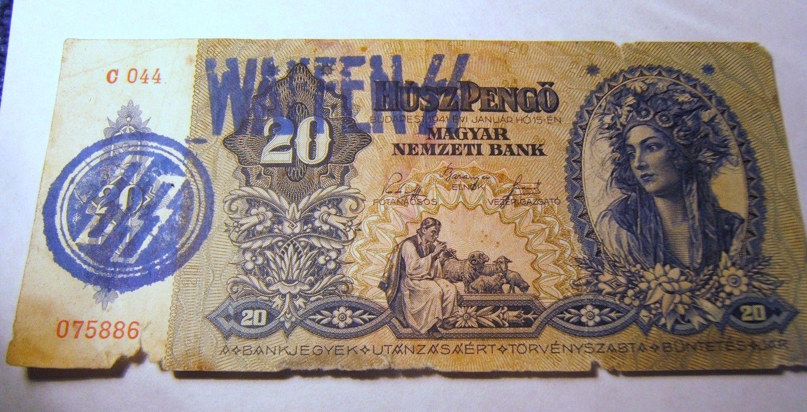 http://www.hamispenzek.hu/hirek/hamis-hazilag-tervezett-es-gyenge-minosegu-WAFFEN-SS-felulnyomas/Hamis-hazilag-tervezett-es-keszitett-gyenge-minosegu-SS-es-WAFFEN-SS-belyegzo-nyomataval-kek-szin-1941-20-pengo.jpg